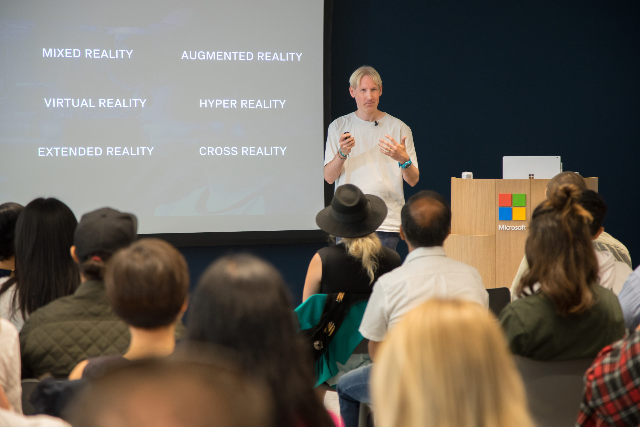 Matthew drinkwater guest speaking at Microsoft Store, Fashion Innovation Agency