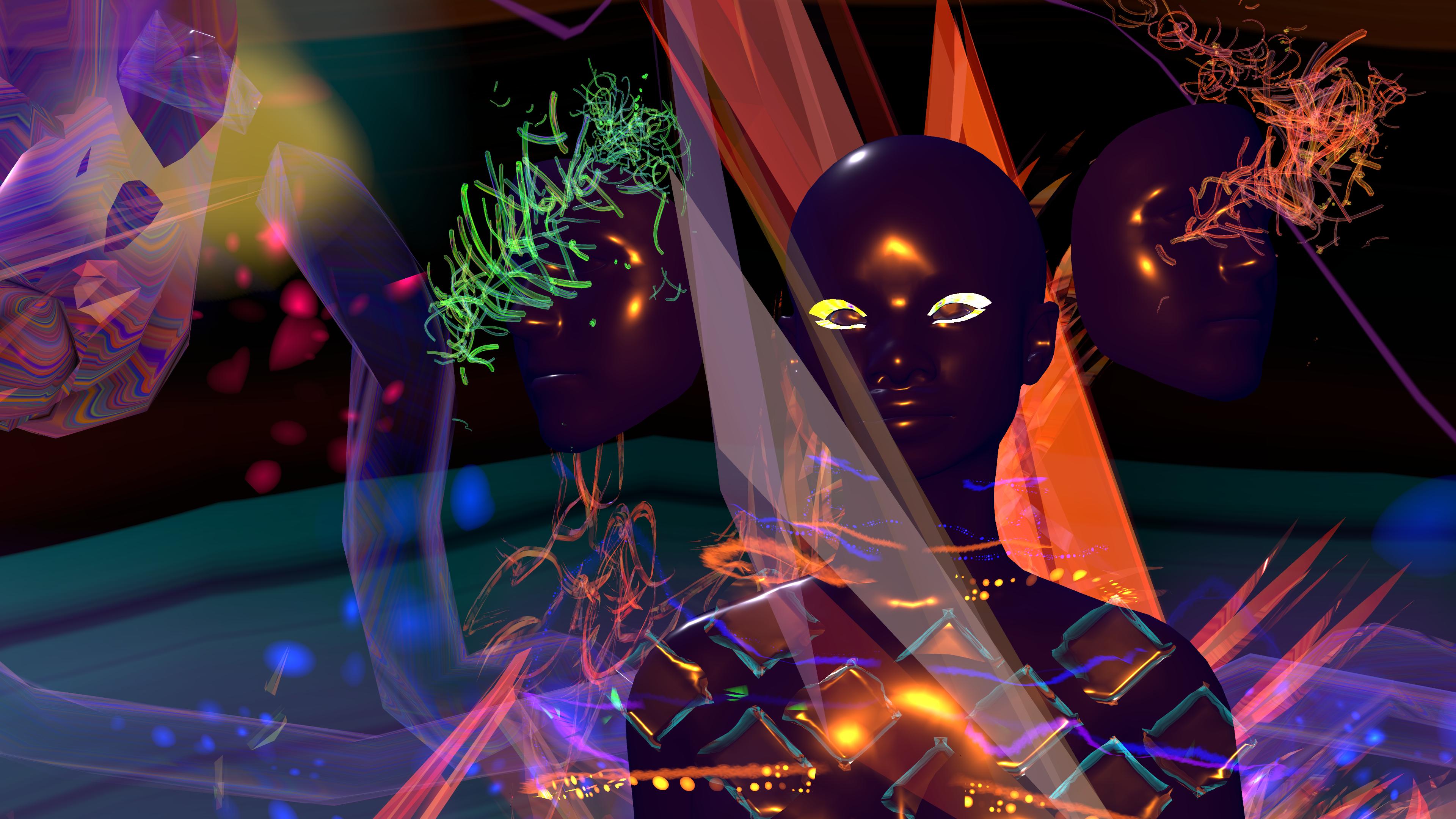 headshot of virtual avatar in virtual environmnent