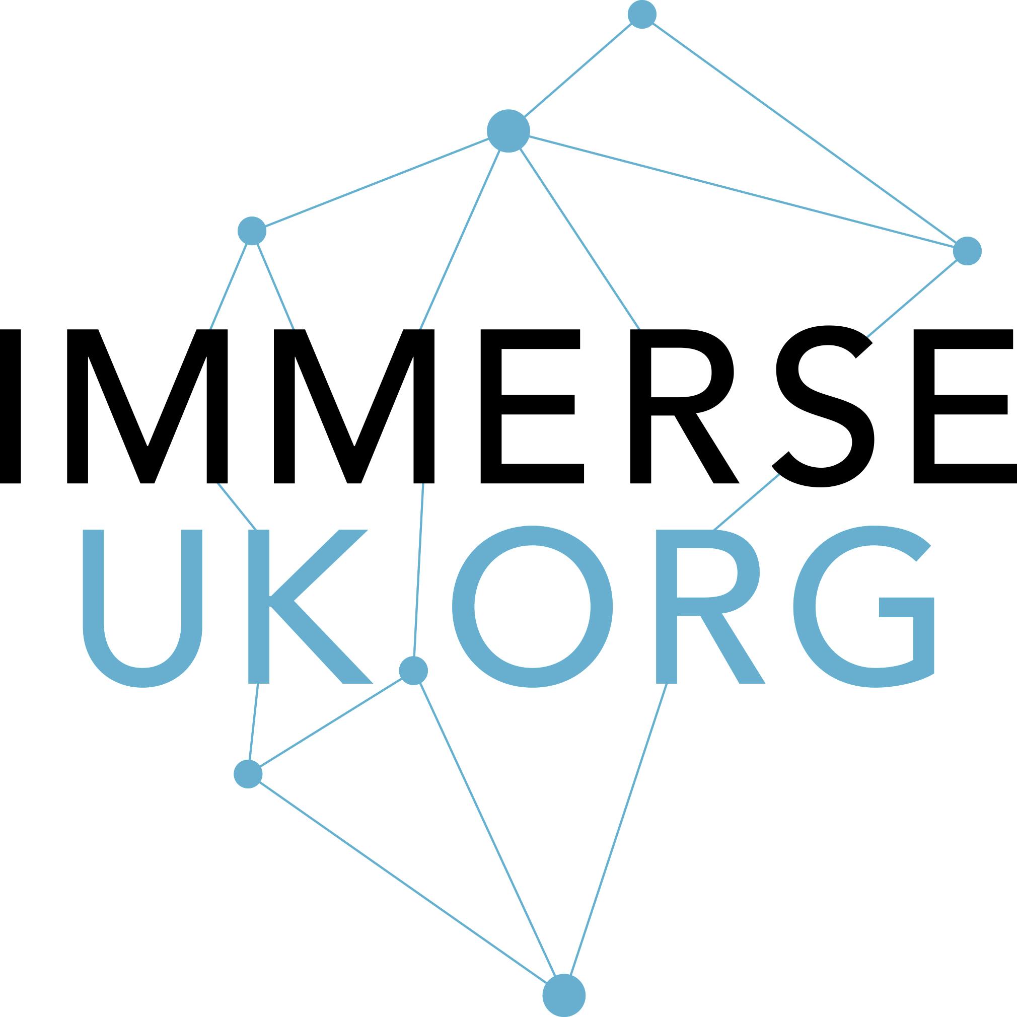 immerse uk logo, speaking engagements
