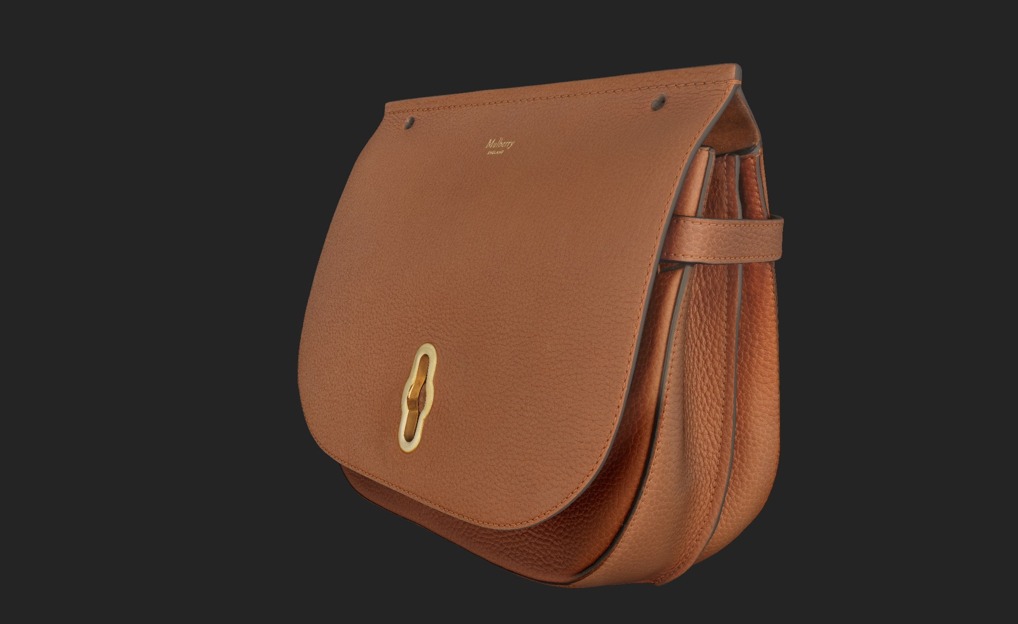 Image of brown mulberry bag put together using photogrammetry, Fashion Innovation Agency