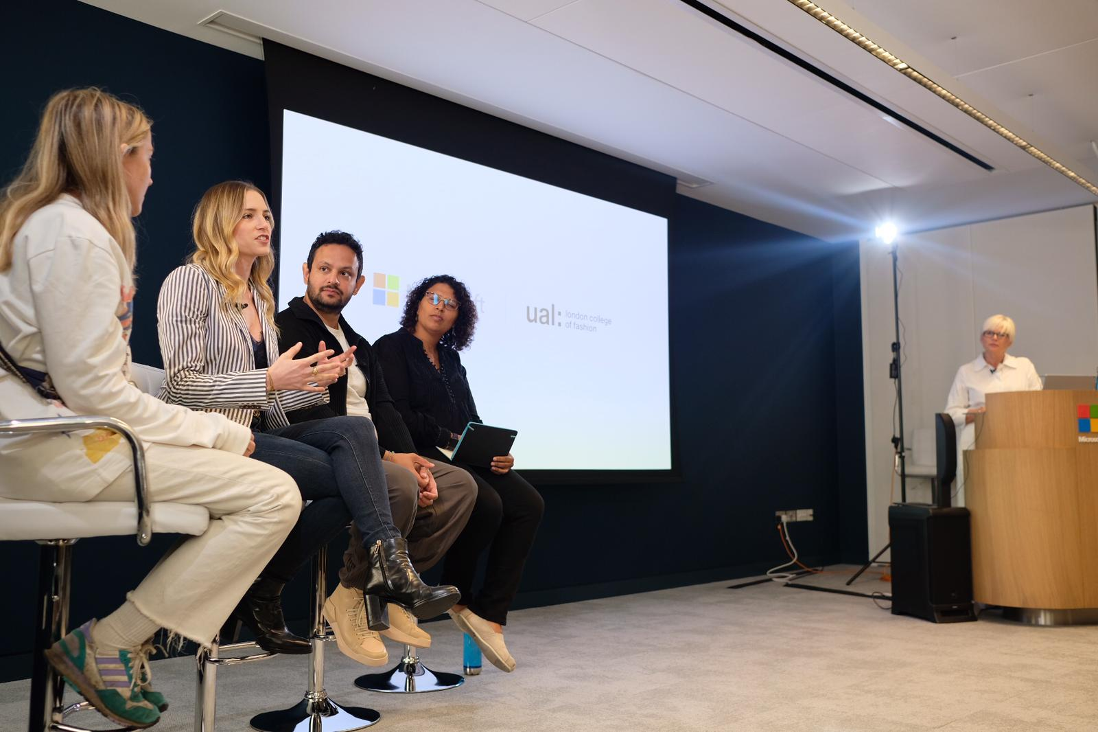 Moin Roberts-Islam of FIA sat on panel discussion for Microsoft alongside Bethany Williams, Irene-Marie Seelig