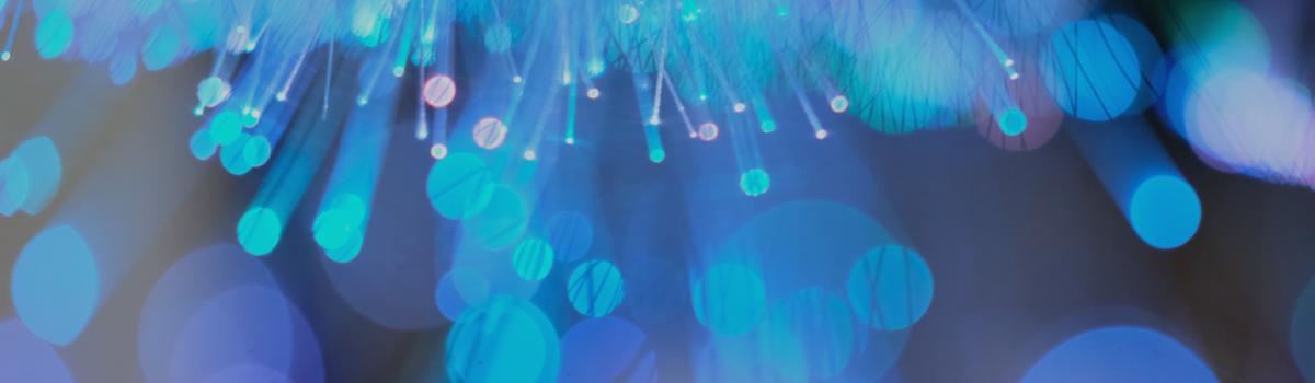 optical fibres, blue dots