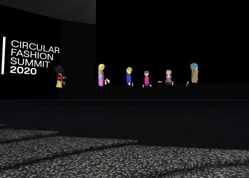 attendees attend virtual reality summit as avatars