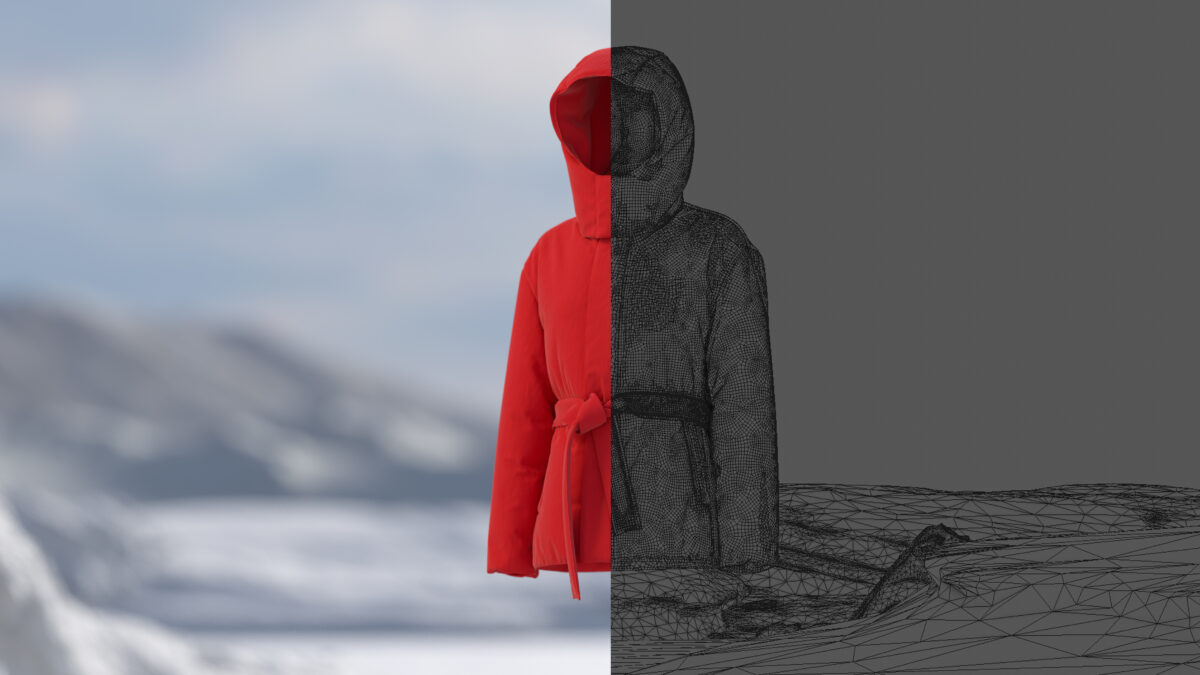 virtual jacket created in unreal engine