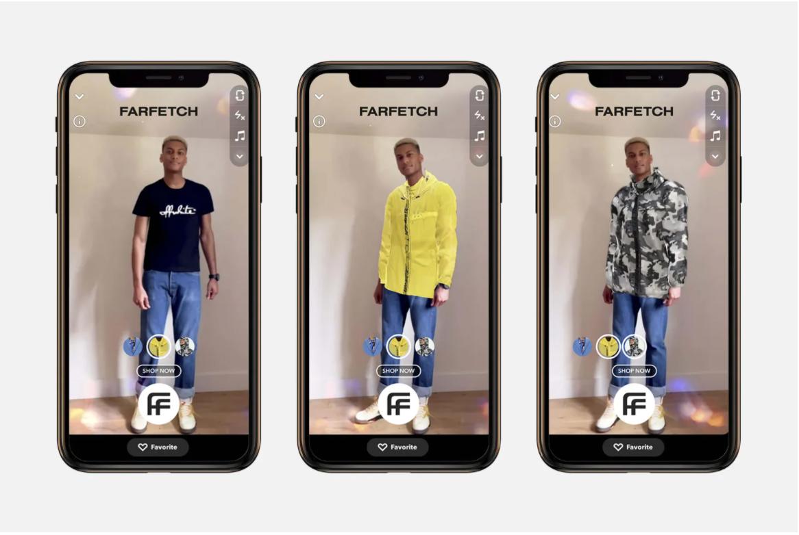 Snapchat / Farfetch AR try-on